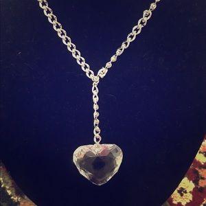 Heart crystal y necklace